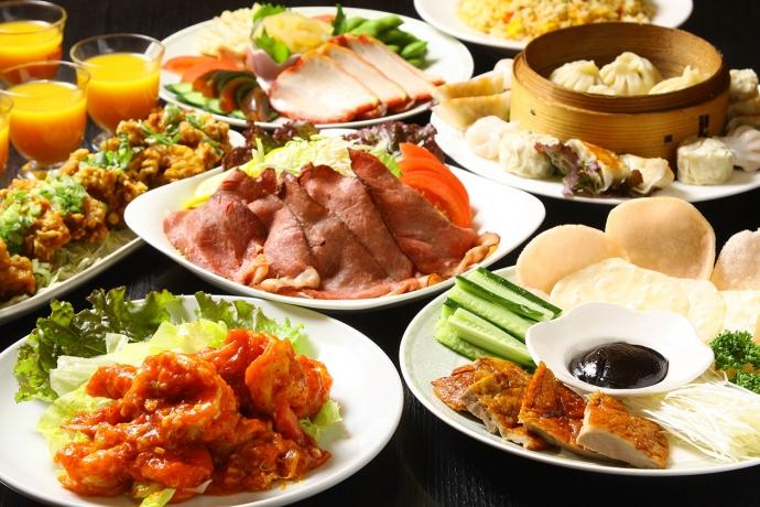 ●豪華大皿コース 4,500円~(税込) *飲み放題2時間付き、お一人様価格
