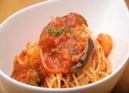 海老と茄子のトマトソース