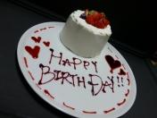 記念日特製ケーキ(要2日前までの予約)記念日の方に1人250円(2人以上)にてサービス ※税別