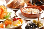 スペイン&イタリアン小皿料理が均一400円、500円!!