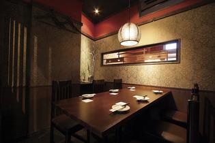テーブル個室、座敷、ソファー席など、さまざまな趣向を凝らした個室が用意されているよ
