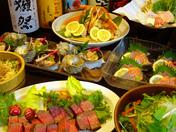 大皿料理の特上!店長一押し宴会コースは飲み放題付で4980円
