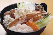 鍋は魚貝〜肉類までなんでもリクエストに応えてくれるよ