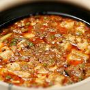 香楽の麻婆豆腐は少し辛め。ご飯との相性は最高!