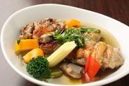 ハーブチキンと野菜