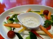 「The☆バーニャカウダ」 彩り野菜とアンチョビの濃厚ソースで