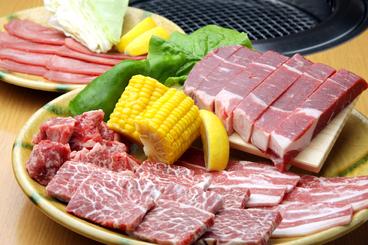 贅沢な熟成厚切り上ロースステーキが入ったスペシャル大皿「いろいろ満腹スペシャル」