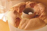 人気メニューのシフォンケーキ