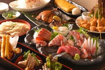 豊かな海の旨い魚☆「海鮮満喫コース」飲み放題付6,000円 ※仕入れによりコース内容が変更になる場合があります