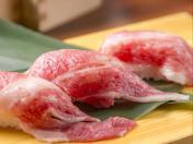 黒毛和牛の炙り寿司
