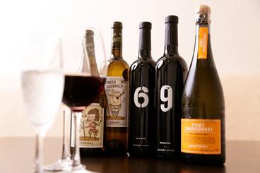 ワインの種類も豊富だよ♪