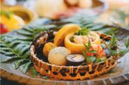 お昼のミニ懐石「旬」の前菜料理