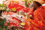 新鮮な旬の魚介類がずらり!