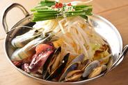 鍋(イタリアベース×魚貝)