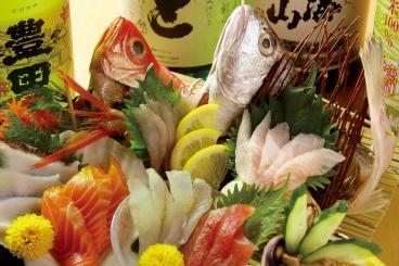 日曜日~木曜日限定!! お造り7種盛りご注文に限り!! 姿盛りを2種類盛り付けご提供! 価格変わらず1,980円 ☆☆☆