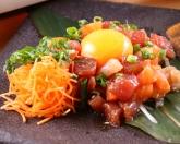 漁師直伝!海鮮ユッケ 鮪に真鯛にサーモンに蛸を自家製旨ユッケダレで!