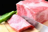 松阪牛特選カルビ!! 柔らかくお口の中でとろけます。
