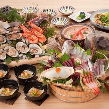 忘年会、新年会など宴会のご予約は大庄水産におまかせください!※コース料理例