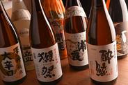 ビール、日本酒、焼酎、ハイボール、カクテル…なんでも選び放題!各地の地酒も取り揃えているよ♪