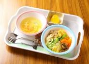 お子様セット(ビビンバ+スープ+ゼリー)350円(税込)