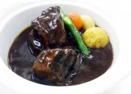 「三河産ポークのデミグラスソース」 柔らかく煮込まれた豚肉は箸でも簡単に切れる程! バイキング付き 1,380円