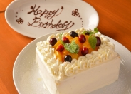 誕生日や歓送迎会、2次会など特別な会にはケーキの用意も出来るので、予約時にスタッフさんへ相談してみよう♪♪