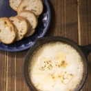 カマンベールとモッツァレラチーズのオーブン焼き~フォンデュスタイルで~¥980