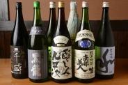 地酒、銘柄酒など15種ご用意!