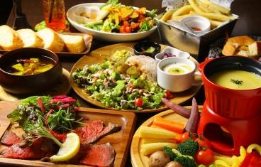 新鮮野菜をふんだんに使った、見た目も味も◎な料理