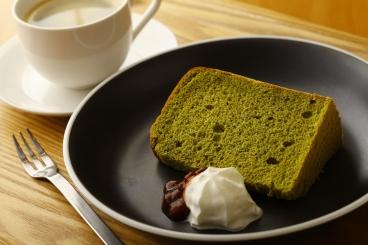 ふわっふわの抹茶のシフォンケーキ