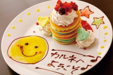 デザートのメッセージはお客様のリクエストもOK!!