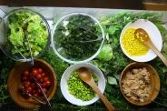 新鮮野菜たっぷり「サラダバー」