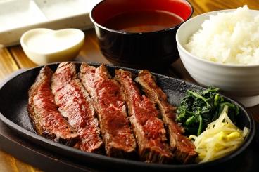 ランチ人気No.1「ハラミステーキ定食」