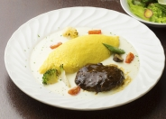 【ランチ】ハンバーグのコンビプレート ハンバーグとオムライス~チーズフォンデュソース~ 1,500円(税別)