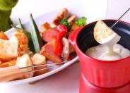 6種盛きのこと野菜のチーズフォンデュ&バケットset 1,580円