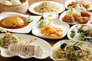 食べ飲み放題コース 3,500円(税込) *仕入れ状況や季節に応じて内容が変更になる場合がございます