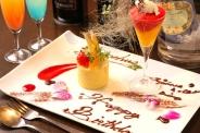 誕生日などの記念日にはとっておきのサプライズも用意(要予約)